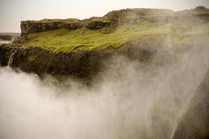 Huge waterfall in Iceland photo