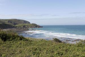 olas en la bahía foto