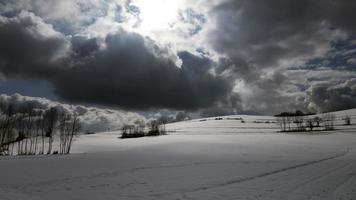Landscape covered with snow in the Bugey photo