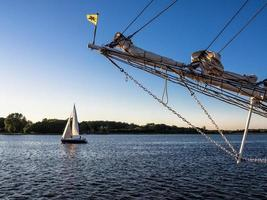 Sailing ships in the port of Rostock photo