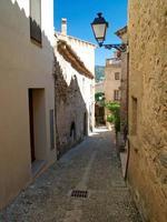 Narrow street in spanish town - Tossa de Mar