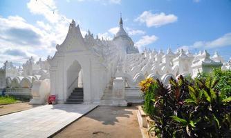 White pagoda of Hsinbyume paya temple