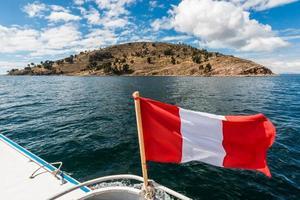 Taquile Island Titicaca Lake peruvian Andes Puno Peru