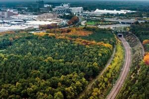 Aerial View of Frankfurt photo