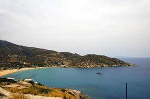 landscape Mylopotas beach Mediterranean  Ios island Cyclades Greece photo