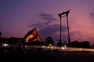 Sao Chingcha Famous Thailand Tourist Attraction with long Exposure effect