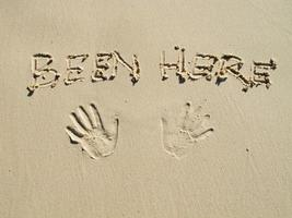 drawing on the sand photo