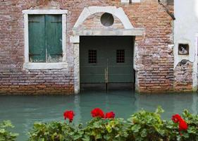 Venice, Italy, the city streets on the water photo
