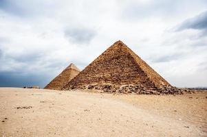 necrópolis de giza, meseta de giza, egipto. Patrimonio Mundial de la UNESCO foto