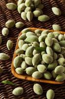 Organic Fresh Green Almonds photo