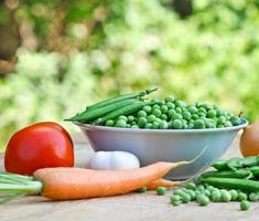 guisantes orgánicos frescos