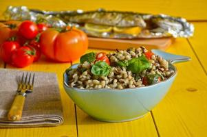 Barley and wild rice salad