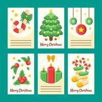 Cute Christmas Card Collection vector