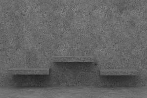 Dark grey shelves on wall