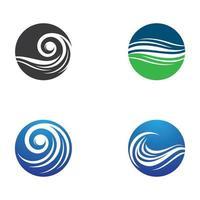 Water wave logo images set