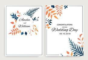 Set floral wedding cards design