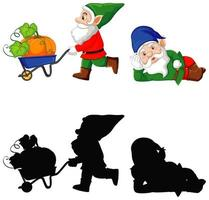 Gnome in cartoon character on white background vector