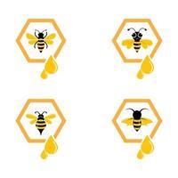 conjunto de imágenes de logotipo de abeja
