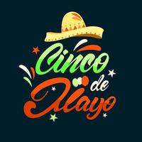 Federal Holiday in Mexico Cinco de Mayo Lettering Style