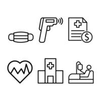 Medical Icon Pack Design  vector