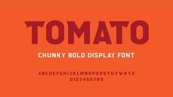 dik vetgedrukt lettertype vector