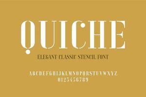 Elegant Classic Stencil Font vector
