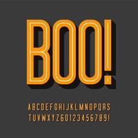 tipografía 3d en línea condensada vector
