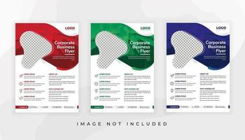 Flyer template for corporate business vector