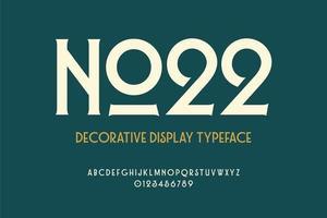 Decorative Display Vintage Typeface vector