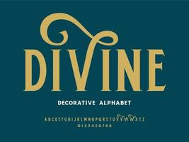 Decorative Vintage Display Typeface vector