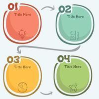Creativity infographic template vector