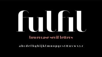 Modern Serif Lowercase Display Letters vector