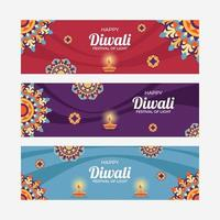Rangoli Diwali Banner vector