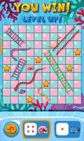 Snake ladder game template vector