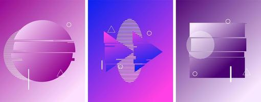 Circle, Stop, Return Button in Duotone Futuristic Style vector