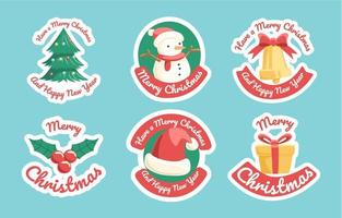 Christmas Greetings Sticker Collection