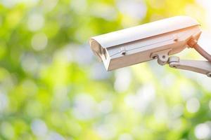 Closeup CCTV or surveillance camera
