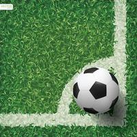 fútbol o fútbol en el área de la esquina del campo de fútbol vector