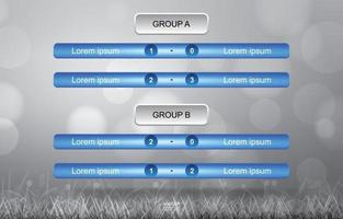 Match schedule for soccer football cup on gray bokeh vector