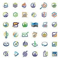 Business finance and marketing icon collection