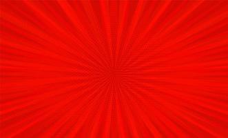 Comic book pop art strip red radial