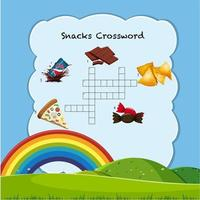Snack crossword game template