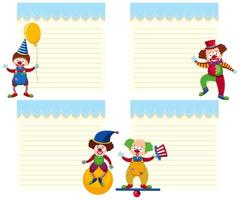 Set of circus note template