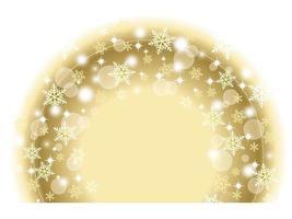 Semicircle snowflakes winter design