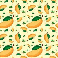 Seamless background design with mango