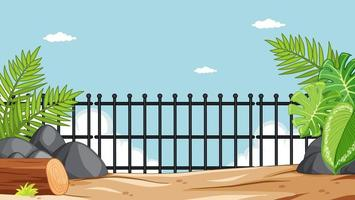 Zoo park without animals scene vector