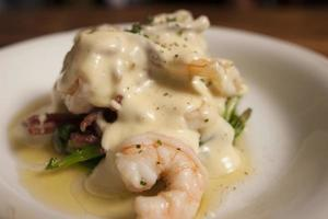 Grilled  Prawns with white sauce