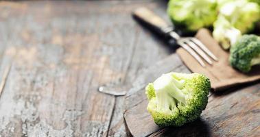 fresh green broccoli photo