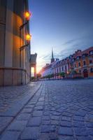 noche de wroclaw en la isla de la catedral foto