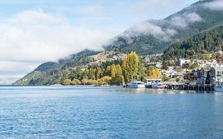 Lake Wakatipu in the morning, Queenstown, South Island New Zealand